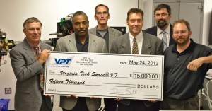Check presentation to Virginia Tech with Dr. Dan Sable and John Hodock of VPT